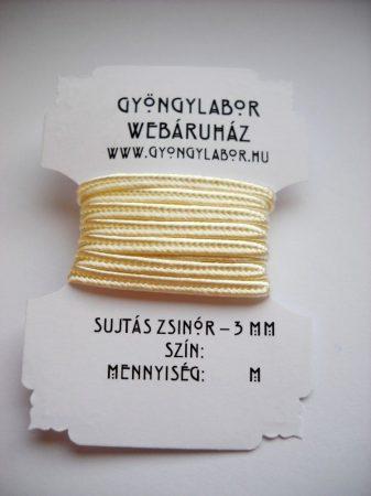 Sujtás zsinór - 3 mm - fényes - gyöngyház (#11)
