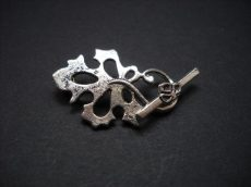 Szőlőlevél kapocs - ezüst 32*20 mm - 2 pár