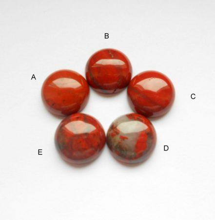 Vörös folyó jáspis kaboson - 16 mm