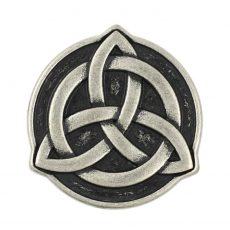 Kerek  kelta mintás fémgomb - 22 mm - antik ezüst