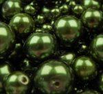 Cseh üveg tekla gyöngy - 4 mm - 50 db/cs - fenyő