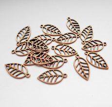Leaf charm - 22*12 mm - antique gold