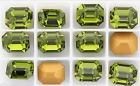 Swarovski szögletes octogon kristály - 12x10 mm - olivine - GF