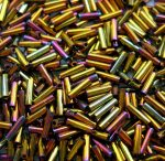 Miyuki 6 mm  bugle -  Metallic Gold Iris - # 462