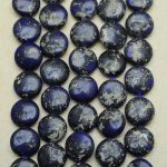 Lapis lasuli coin - 18 mm