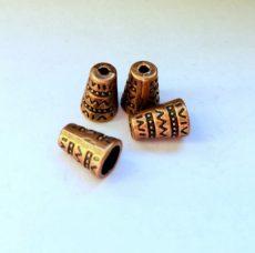 Vörösréz gyöngykupak - 11x7 mm