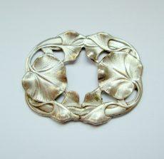 Tavirózsa levél mintás ezüst keret 36x28mm