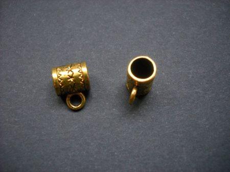 Medálvezető - 12*9 mm - antik arany