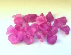 Lucite virágkehely gyöngy - 14 mm - mályva