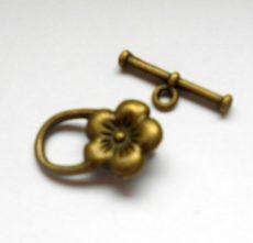 Toggle clasp - bronze - 20*14 mm