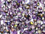 Cseh csiszolt gyöngy - 4 mm - Crystal Magic Purple - #95500
