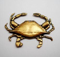 Tarisznyarák - antik arany - 40*30 mm