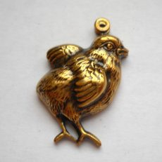 Chicken  - brass stamping - 25x15 mm