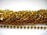 Strasszlánc - 3,2 mm - olivine -arany - 25 cm