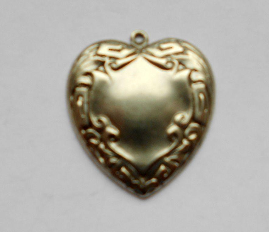 Ezüst szív veret - 26x22 mm - 1 db