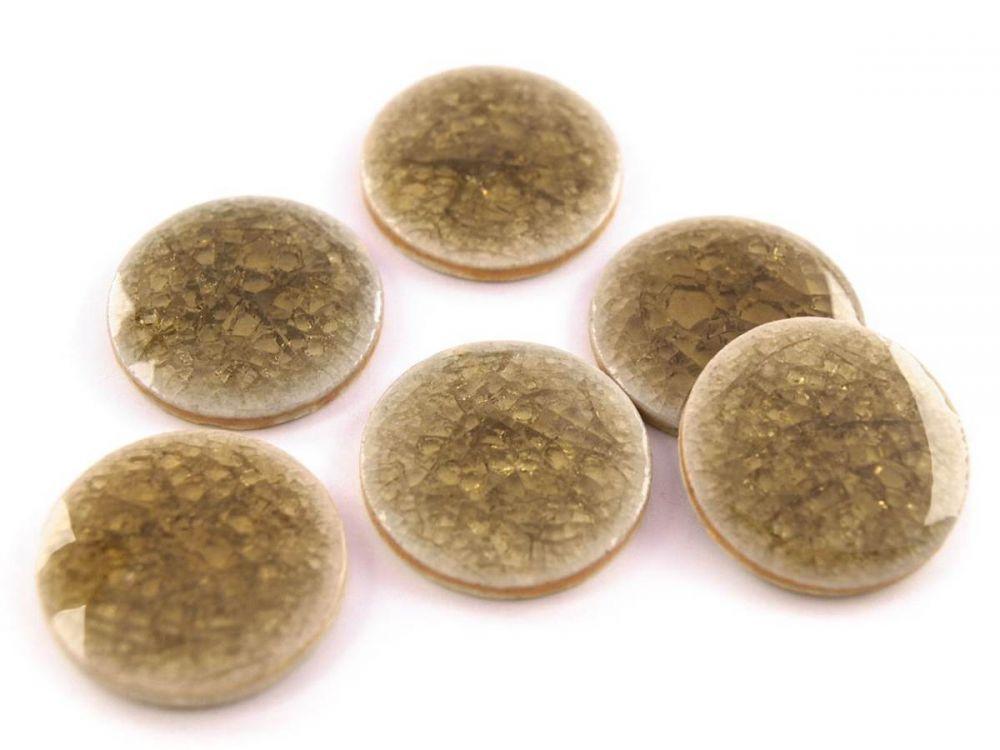 Kerámia kaboson - 20 mm - roppantott üveg felülettel - barna